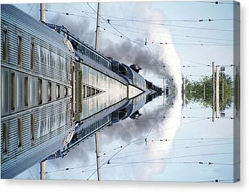 22nd Century Floating Cities Power Storage Canvas Print by Thomas Woolworth