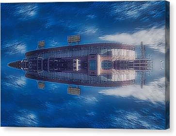 22nd Century Floating Cities Sports Stadium Canvas Print by Thomas Woolworth