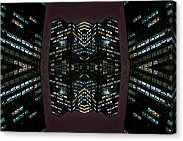 22nd Century Floating Cities Where A Tree Grows Canvas Print by Thomas Woolworth