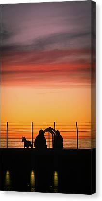 Canvas Print featuring the photograph 22nd St Sunset by Michael Hope