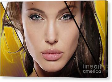 Angelina Jolie Collection Canvas Print