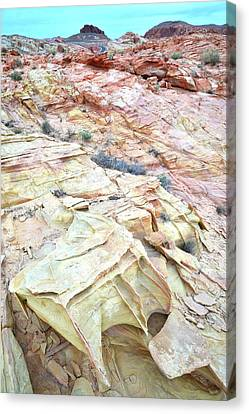 Canvas Print featuring the photograph Colorful Sandstone In Valley Of Fire by Ray Mathis