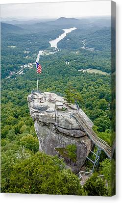 Lake Lure And Chimney Rock Landscapes Canvas Print by Alex Grichenko