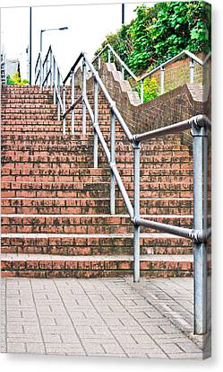 Grate Canvas Print - Stone Steps by Tom Gowanlock