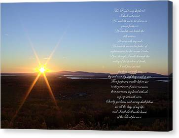 Canvas Print featuring the photograph 23rd Psalm by Greg DeBeck
