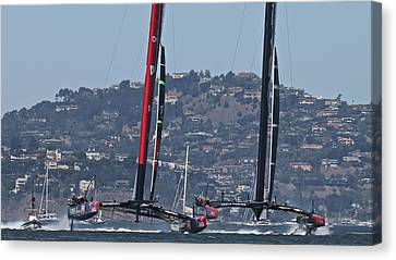America's Cup San Francisco Canvas Print by Steven Lapkin
