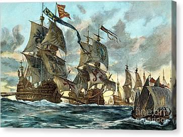 Spanish Armada (1588) Canvas Print by Granger