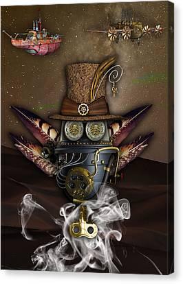 Steampunk Art Canvas Print by Marvin Blaine