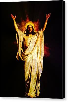 Redeemer Canvas Print - Jesus Christ - Religious Art by Elena Kosvincheva
