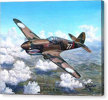 Flying Tiger Over China Canvas Print by Scott Robertson