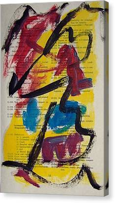 Abstract On Paper No. 17 Canvas Print by Michael Henderson