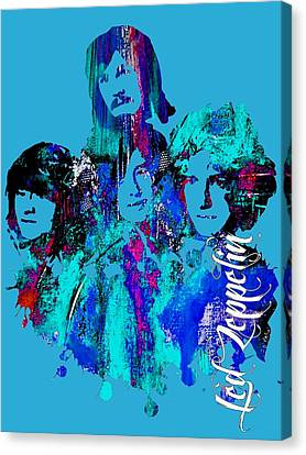 Led Zeppelin Collection Canvas Print by Marvin Blaine