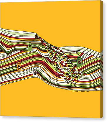 Line Faces Canvas Print by Karl Addison