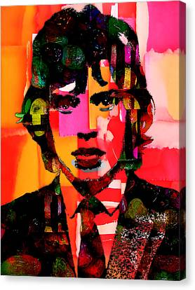 Stones Canvas Print - Mick Jagger Collection by Marvin Blaine
