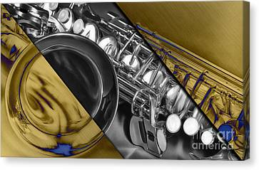 Saxophone Collection Canvas Print