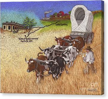 25th Anniversary Santa Fe Trail Association Canvas Print by Tracy L Teeter