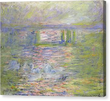 Charing Cross Bridge Canvas Print by Claude Monet