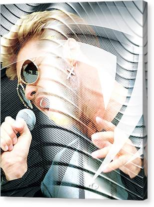 Michael Canvas Print - George Michael Collection by Marvin Blaine