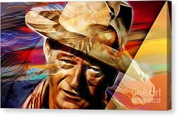 Wayne Canvas Print - John Wayne Collection by Marvin Blaine