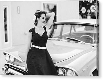Pinup Sce Canvas Print by Tim Ell