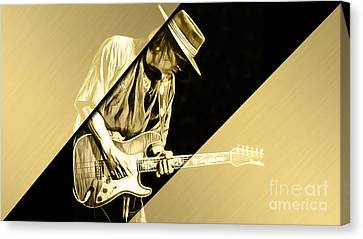 Stevie Ray Vaughan Collection Canvas Print by Marvin Blaine