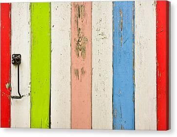 Wood Background Canvas Print by Tom Gowanlock