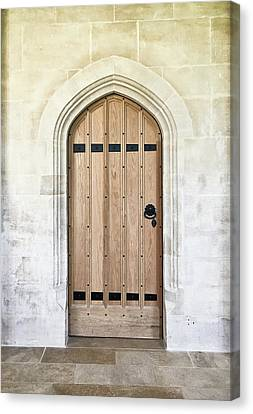 Wooden Door Canvas Print by Tom Gowanlock