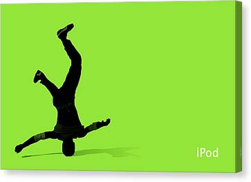 Ipod Canvas Print - 26051 Computer Ipod Breakdance by Mery Moon