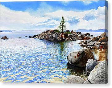 #263 Crystal Bay 2 Canvas Print by William Lum