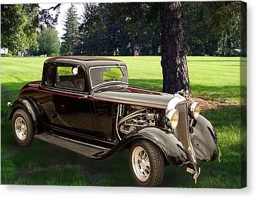 1933 Dodge Vintage Classic Car Automobile Photograph Fine Art Pr Canvas Print by M K  Miller