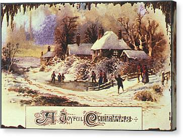 Aodng Canvas Print - American Christmas Card by Granger