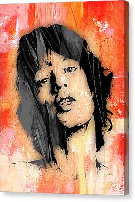 Mick Jagger Collection Canvas Print by Marvin Blaine