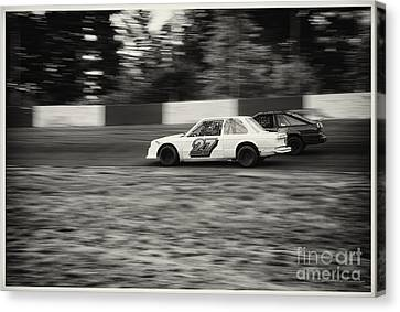 27 On The Speedway Canvas Print by Wayne Wilton