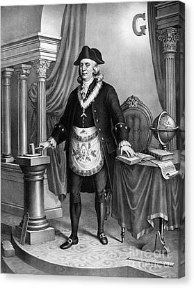 Benjamin Franklin (1706-1790) Canvas Print by Granger