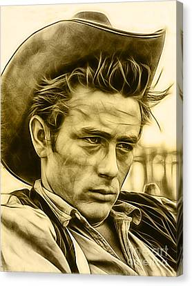 James Dean Collection Canvas Print by Marvin Blaine