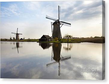 Mills In Netherlands Canvas Print by Andre Goncalves