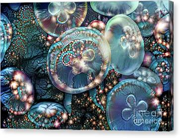Invertebrate Canvas Print - Abstract Jellyfish by Amy Cicconi