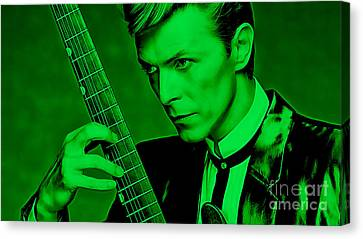 David Bowie Collection Canvas Print by Marvin Blaine