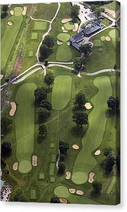 2nd Hole Philadelphia Cricket Clubs Wissahickon Golf Course Canvas Print by Duncan Pearson