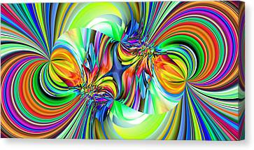 2x1 Abstract 309 Canvas Print by Rolf Bertram