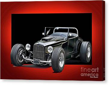 1927 Ford 'track T' Roadster Canvas Print by Dave Koontz