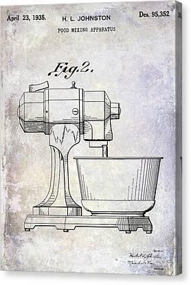 1935 Food Mixing Apparatus Patent Canvas Print