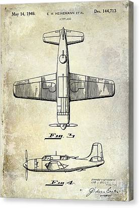 1946 Airplane Patent Canvas Print