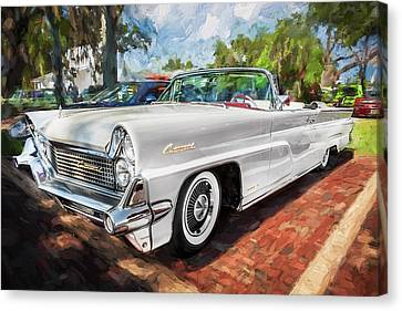 1959 Lincoln Continental Town Car Mk Iv Painted  Canvas Print by Rich Franco