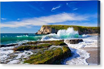 A Landscape Drawing Canvas Print by Victoria Landscapes