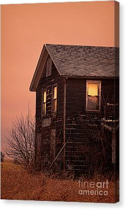 Canvas Print featuring the photograph Abandoned House by Jill Battaglia