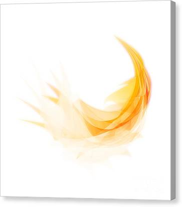 Canvas Print featuring the painting Abstract Feather by Setsiri Silapasuwanchai