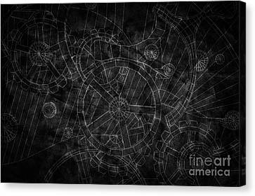 Abstract Industrial And Technology Background Canvas Print by Michal Bednarek