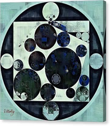 Abstract Painting - Dark Jungle Green Canvas Print