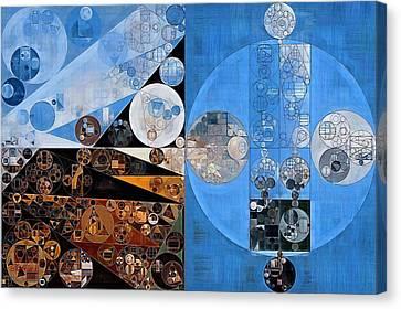 Geometric Style Canvas Print - Abstract Painting - Heather by Vitaliy Gladkiy
